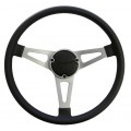 New Reproduction 3 Spoke Sports Steering Wheel With Horn Button & Ring  ADR Approved