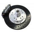 "Valiant Disc Brake Conversion Kit - Wilwood Dust Boosted 4 Piston Caliper Drilled & Slotted 12.19"" Rotor Setup"